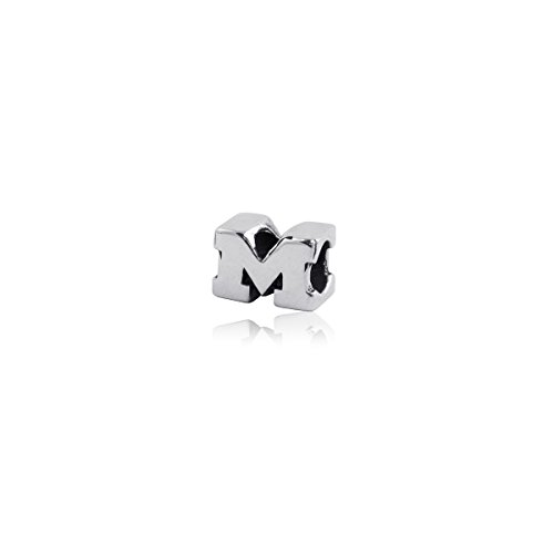 (University of Michigan Wolverines Sterling Silver Jewelry by Dayna Designs (3D Charm)