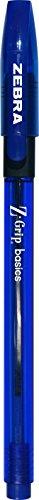 Zebra Pen Z-Grip Basics Stick Pen, Medium Point,1.0mm, Blue Ink, 12-Count
