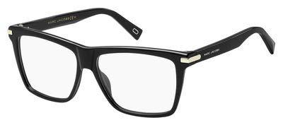 Marc Jacobs Plastic Rectangular Eyeglasses 55 0807 Black