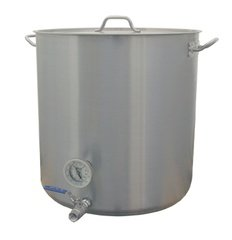 15 Gallon Beer Brewing Kettle w//Valve /& Thermometer with Tri-clad Bottom