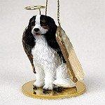 Cavalier King Charles Spaniel Black & White Pet Angel Ornament ()
