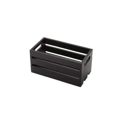 American Metalcraft WTBL12 Wooden Crate, Black, 12''