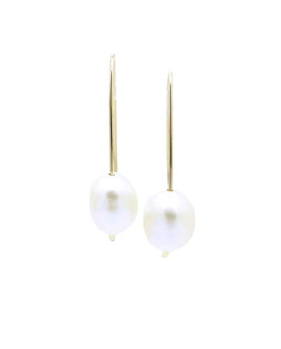 Genuine Freshwater Pearl Arc Earrings, 14K Gold Filled Wire Threaders, Mother's Day Gift