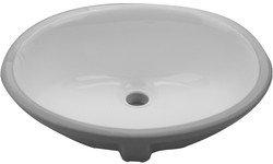 Nantucket Oval Undermount Bathroom Sink in Bisquit Ceramic