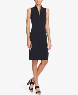 (Lauren Ralph Lauren Pique Sleeveless Knee-Length Dress (Polo Black, L))