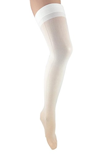 Plus Size White Sheer Thigh High Back Seamed