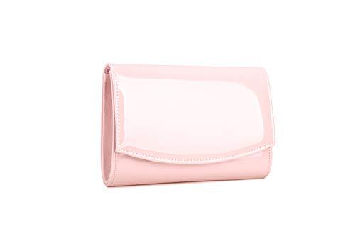 Nodykka Evening Bag Clutch Purses For Women Patent Leather Handbags Party Shoulder Crossbody Envelope Wallet ()