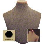 - Men's Tie Display, Dark Tan, W/ Black Metal Neck Block
