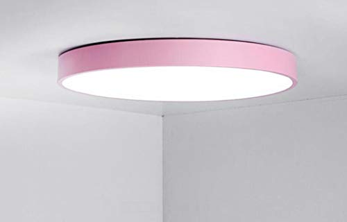Steplessdimming 50cm ZIXUAA Moderne Minimaliste Rond Plafond Lampe De Chambre Lampe De Plafond LED Salon éclairage Lumineux Rose-steplessdimming-50cm