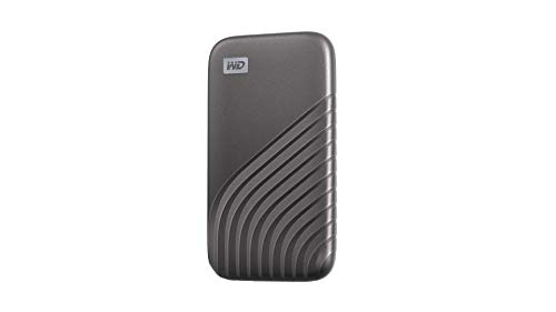 Western Digital WD 500GB My Passport SSD External Portable Drive, Gray, Up to 1050 MB/s - WDBAGF5000AGY-WESN