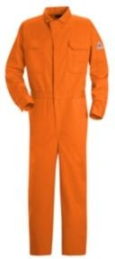 Bulwark Deluxe Contractor Coverall, Excel FR, ORANGE, RG50 (Contractor Deluxe Coverall)