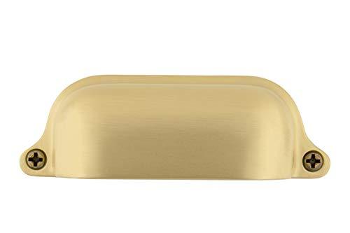 (Nostalgic Warehouse 761754 Cup Pull Farm Large in Satin Brass Cabinet Hardware,)