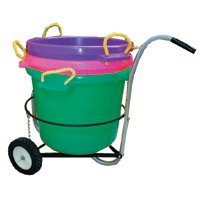 Fortiflex Multi-Purpose Storage Bucket for Dogs/Cats and Horses, 70-Quart, Sapphire
