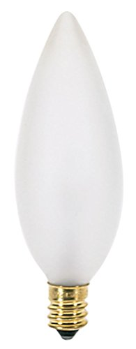 220v B10 E12 Candelabra Base (Satco 40B10/F/220V Incandescent Decorative Light, 40W E12 B10, Frosted Bulb [Pack of 24])