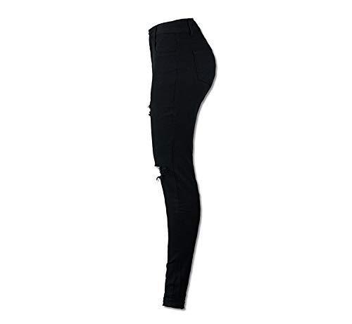 Donna Damengxiang Alta Nero Vita Moda Jeans Shampoo Lavaggio Stretch Da Alla aXrwPXqg