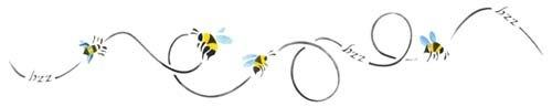 Buzzing Bee Wall Stencil SKU #2266 by Designer Stencils]()