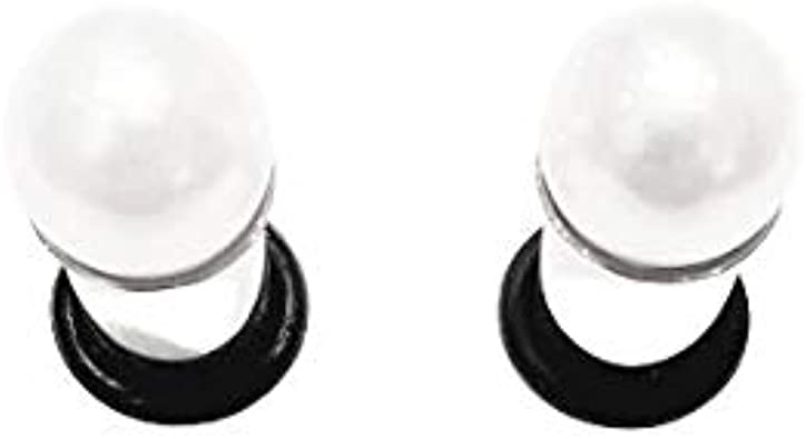 716 00g 0g 2g 4g 6g 8g 10g 12g 12mm 1 PAIR Espresso Pearl Plugs Gauges Tunnels Gauges Wedding Bridal Bridesmaid Special Occassion Prom