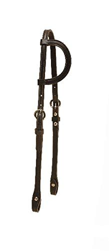 - Tory Leather One Ear Headstall with Buckles and Chicago Screws - Black