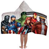 Jay Franco Marvel Avengers Hooded Bath/Pool/Beach Towel, Gray
