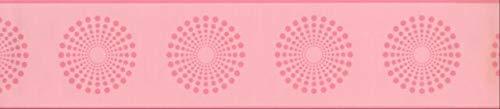Wallpaper Border Contemporary Circles Pink 5.25