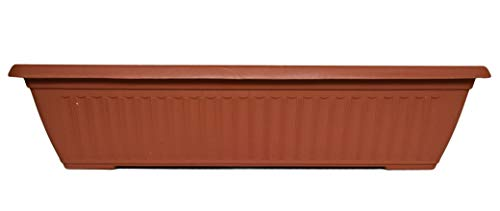 (Set of 1 Terra Cotta Rectangle Planter/Pots! Perfect for Both Indoor and Outdoor Plants! (1, Terra Cotta))