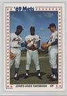 Cleon Jones; Tommie Agee; Ron Swoboda (Baseball Card) 1987 TCMA Baseball's Greatest Teams 1969 New York Mets - [Base] (1969 New York Mets Baseball)