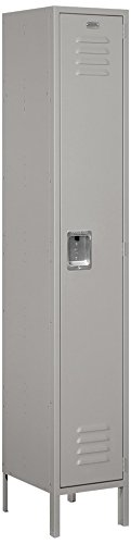 Salsbury Industries 51165GY-U Single Tier 1 Wide 6-Feet High 15-Inch Deep Unassembled Extra Wide Standard Metal Locker, Gray (15 Inch Wide Lockers)
