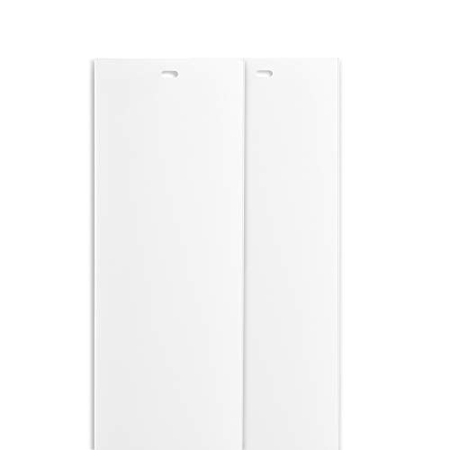 DALIX PVC Vertical Blind Replacement Slats Curved Smooth White 58.5 x 3.5 (2-Pack) (Vertical 2 Blinds)