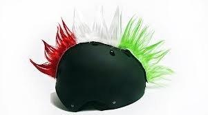 cresta per casco  Wiggystyle Spike (Bianco/Rosso/Verde) cresta per casco Bandiera ...
