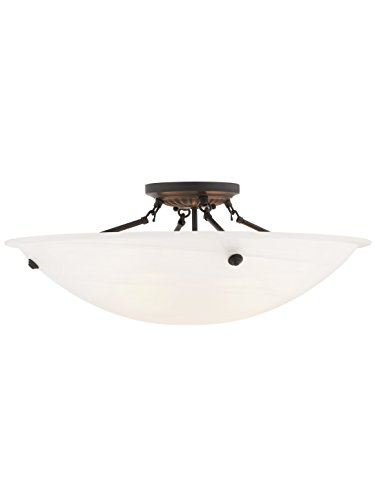 Livex Lighting 4275-07 Oasis 4-Light Ceiling Mount, Bronze ()