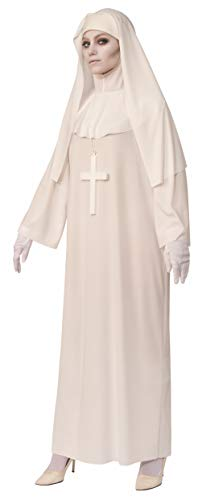 Halloween White Ghost Costume (Rubie's Opus Collection Ghosts Women's Nun Costume, White,)