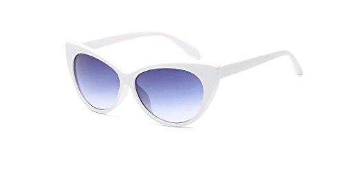 sol Gafas PC venta de caliente ojo Se espejo ora las Cateye Hykis la Mujeres de vendimia cap¨ªtulo de la Sun de gato del Retro mujeres vidrios los blanco de Shades gris Gafas Oculos luneta FqwCPS
