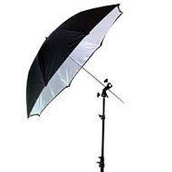 "Smith Victor 32"" Black Backed, Silver Umbrella"