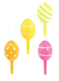 Easter Eggs 3D Cupcake Picks Set of 12