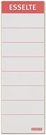 in cartoncino 10 pezzi colore bianco Targhetta per dorso di raccoglitore Esselte Leitz formato corto e sottile