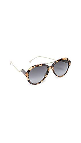 Fendi Women's Aviator Sunglasses, Dark Havana, One Size from Fendi