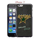 fan products of iPhone 7 Case, Dallas Hockey Team logo 26 Drop Protection Never Fade Anti Slip Scratchproof Black Hard Plastic Case