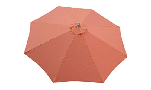 - Formosa Covers Replacement Umbrella Canopy for 10 Foot 8 Rib Market Outdoor Patio Shades in Terracotta Ribs Length 58