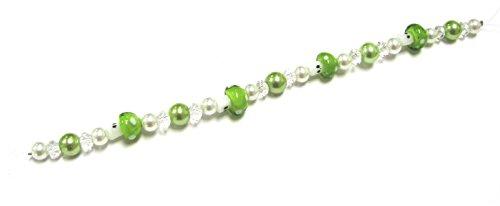 Linpeng Mushroom Lampwork Glass Beads Strand, ()