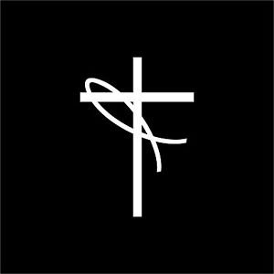 Jesus Fish Cross  Religious Symbol Christian Vinyl Decal Sti