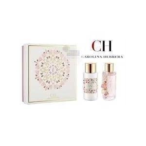 Carolina Ch L'eau By Carolina Herrera Gift Set for Women: 3.4 Oz Eau Fraiche Natural Spray + 6.7 Oz Body Lotion