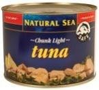 Natural Sea Yellowfin Tuna, Chunk Light, No Salt Added, 66.3 Ounce