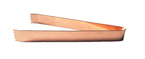 PARIJAT HANDICRAFT Copper Ice Tong Ideal for Serving Cold Drinks and Cocktails by PARIJAT HANDICRAFT