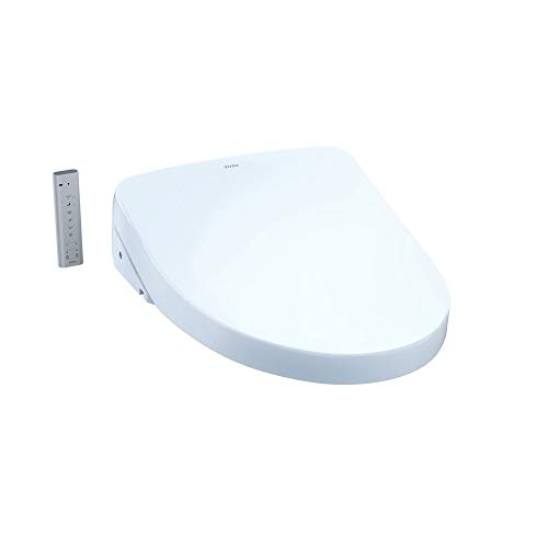 - TOTO SW3046#01 S500e WASHLET Electronic Bidet Toilet Seat with EWATER+ and Contemporary Lid, Elongated, Cotton White