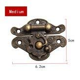 Hasp Pad Chest Lock Piece Wooden Jewelry Vintage Butterfly Combination Padlock Toolbox Storage -1Pcs