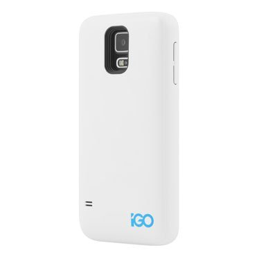 iGO Samsung Galaxy S5 Charger Case 2400mAh White, (Igo Battery Charger)