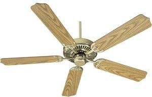 Quorum International 77525-2 Capri I 52-Inch Ceiling Fan, Polished Brass Finish with Reversible -