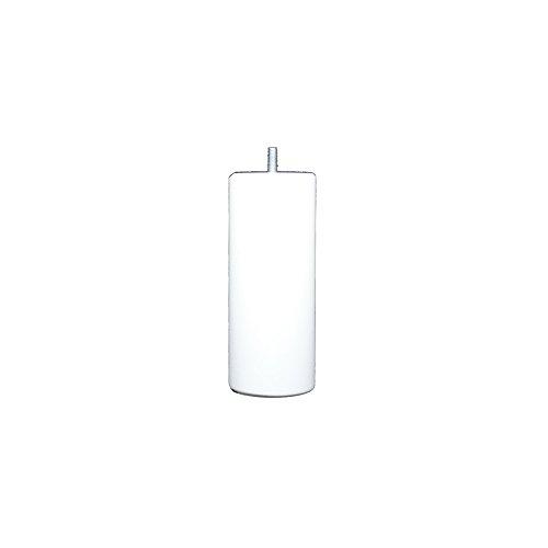 La Fabrique de Pieds AM20170040 Jeu de 4 Pieds de Lit Cylindres Bois Laqué Blanc 17 x 7 x 7 cm