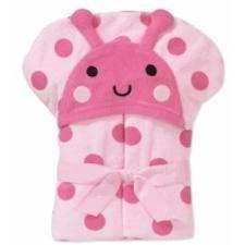 Child of Mine Carter's Baby Hooded Bath Towel - LadyBug