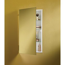 Jensen 869P34WH Specialty Flush Mount Single-Door Recessed Mount Medicine Cabinet by Jensen